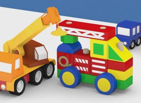 Macchinine colorate e il camion dei pompieri