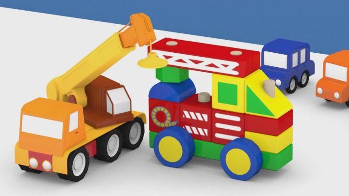 Le macchinine e il camion dei pompieri