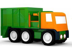 Macchinine colorate e il camion della spazzatura