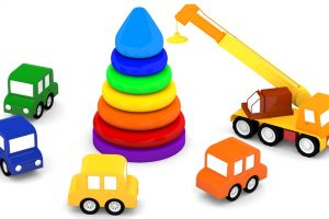 Macchinine colorate e la piramide di anelli