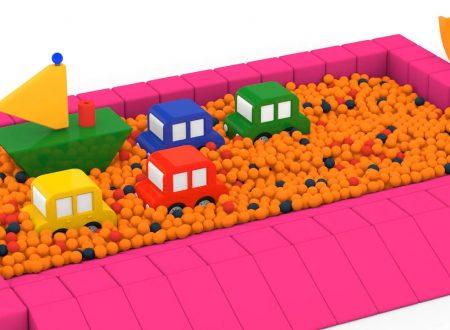 Macchinine colorate e la barca a vela