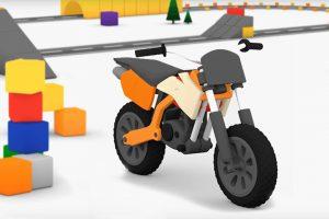 Macchinine colorate e la moto da cross