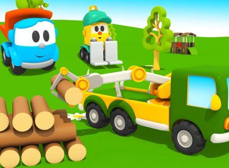 Camioncino Leo Junior e il camion trasporta tronchi