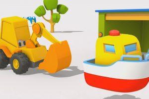Cartoni animati – Escavatore Max e la barca