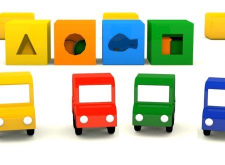 Macchinine colorate e i giocattoli di Natale