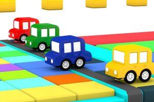 Le macchinine colorate si sfidano in una nuova gara di corsa!