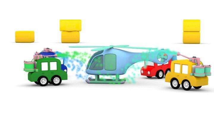 macchinine colorate e l' elicottero