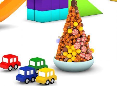 Macchinine colorate e l'albero di caramelle