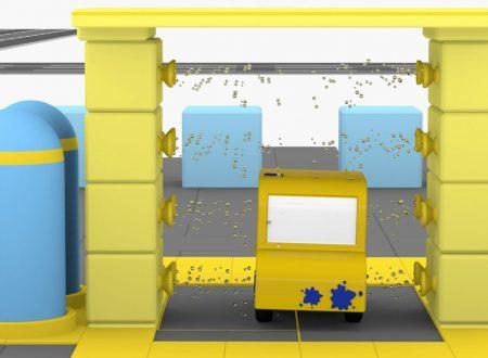 Macchinine colorate costruiscono un autolavaggio