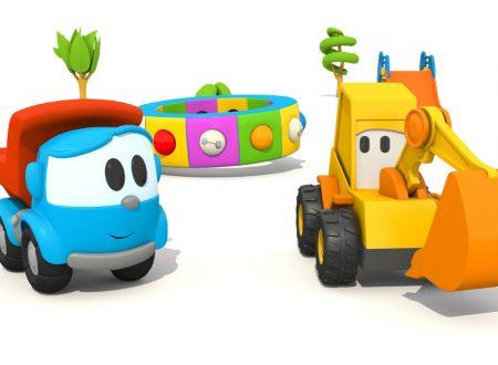 L'escavatore Max e Leo il camion curioso e gli sport !