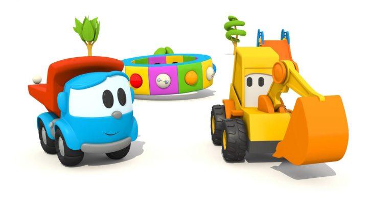L'escavatore Max e Leo il camion curioso e gli sport!