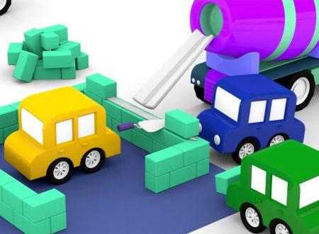Le macchinine colorate e la betoniera