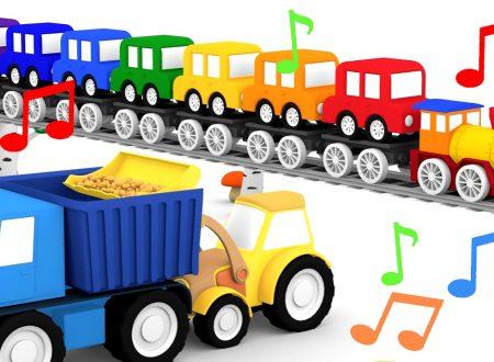 Compilation di Canzoni per bambini ! Le macchinine colorate