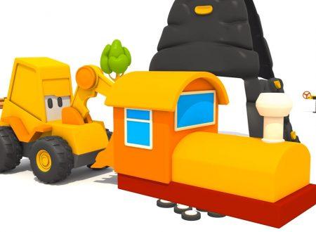 L'escavatore max e il piccolo treno!
