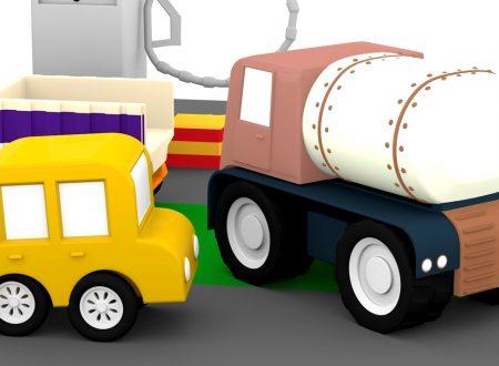 Macchinine colorate e l'incidente al autolavaggio | Cartoni animati