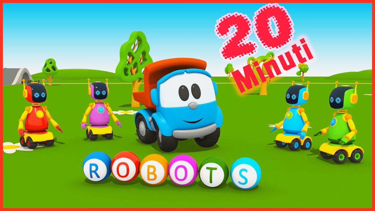 Camioncino leo junior e i robot il cartone dei piccoli