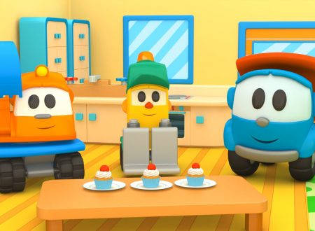 Lifty apre un negozio! Leo il camion curioso e ruspa Scoop fanno i cupcake!