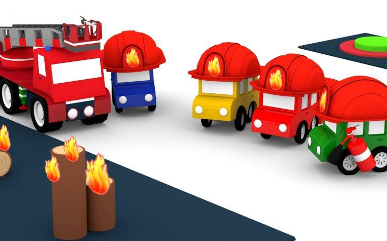 Le macchinine colorate e la scuola dei vigili del fuoco