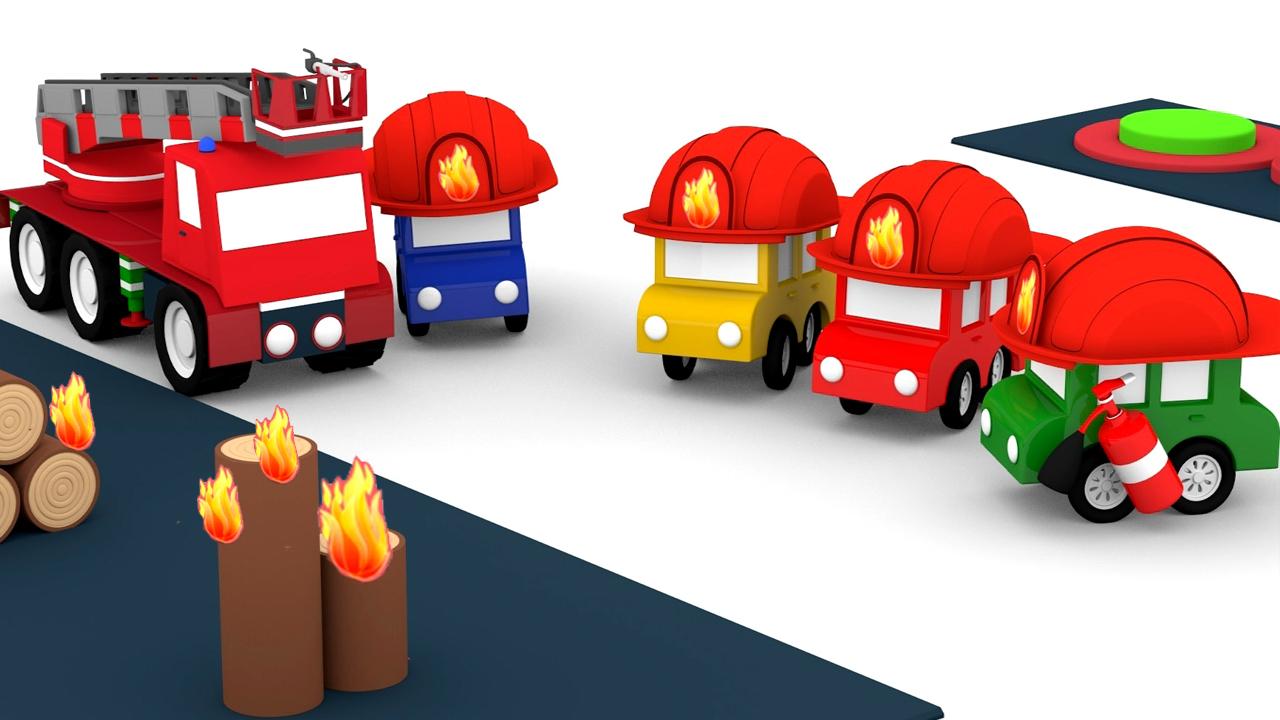 le macchinine vanno a scuola dei vigili del fuoco