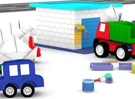 Le macchinine colorate dipingono il garage