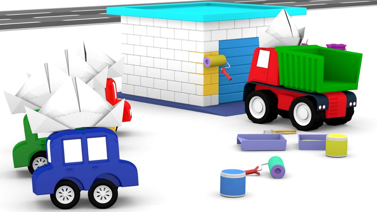 Le macchinine dipingono il garage