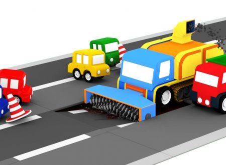 Le macchinine colorate e la fresa per asfalto