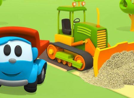 Leo il camion curioso e il caterpillar | Come costruire un macchinario per costruzione?