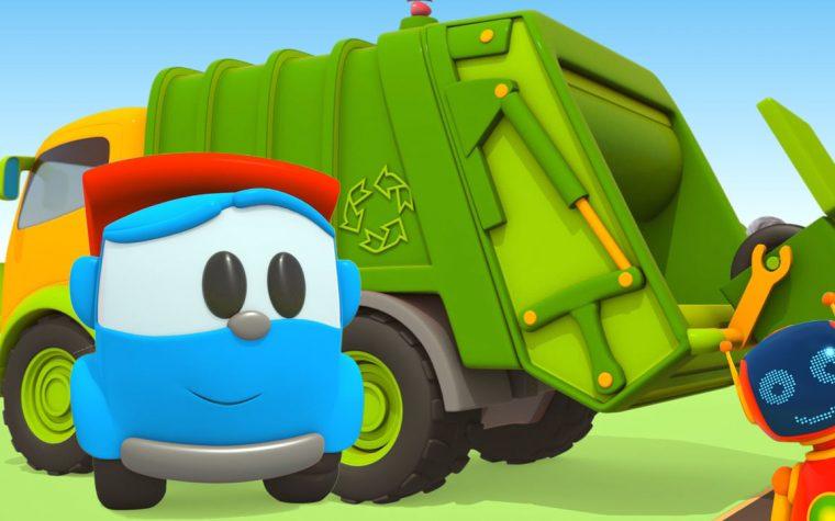 Leo ed il camion della spazzatura in aiuto di Lifty