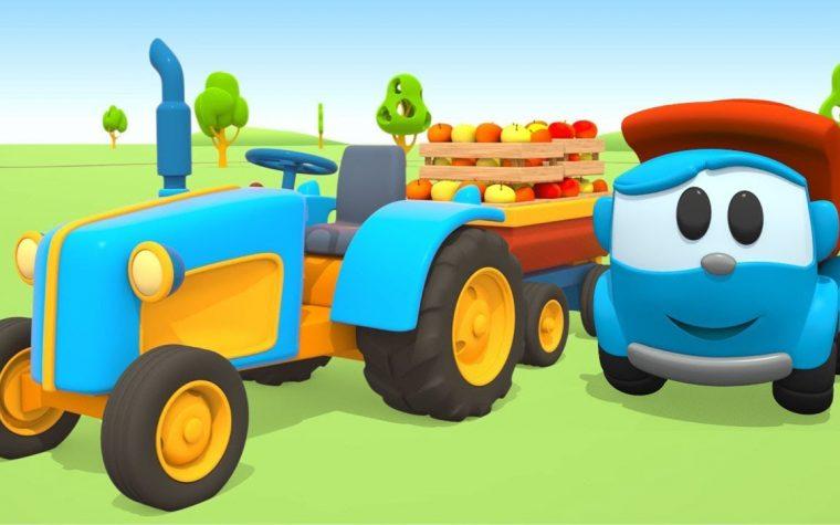 Leo il camion curioso: il trattore e la raccolta delle mele
