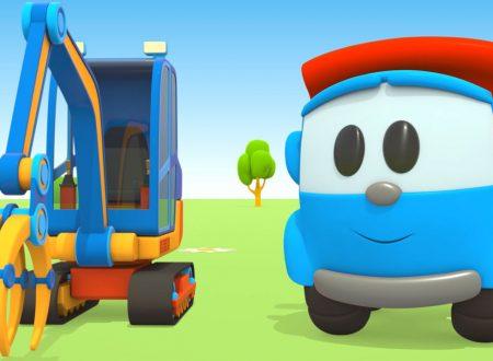 Leo il camion curioso e la gru posa-tubi